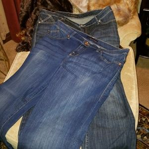 2 Pair Rock & Republic Bootcut Jeans EUC